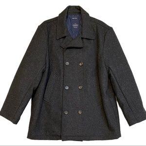 NAUTICA Wool Designer Heavy Peacoat - Dark Grey XL